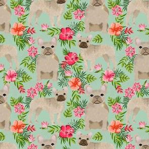 French Bulldog hawaiian floral fawn coat dog fabric