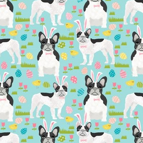 French Bulldog black and white  coat Easter fabric