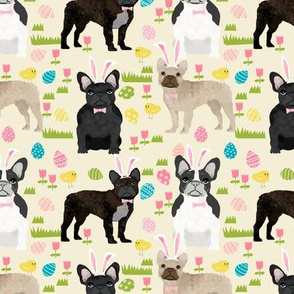 French Bulldog mixed coat Easter fabric yellow