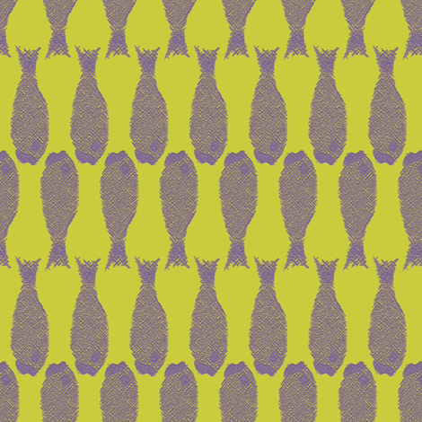 Fish 2 (vertical) fabric by anniedeb on Spoonflower - custom fabric