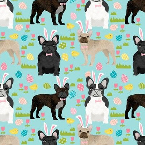 French Bulldog mixed coat Easter fabric