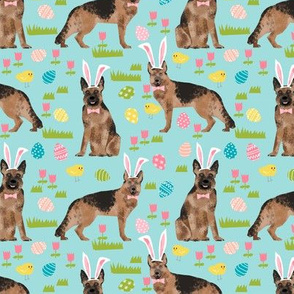 German Shepherd easter spring fabric