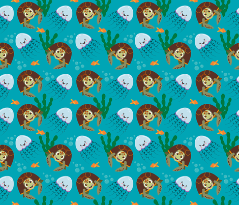 Under the Sea fabric by panda_ink_&_design on Spoonflower - custom fabric
