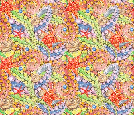 Sea slippy guys fabric by artishark on Spoonflower - custom fabric
