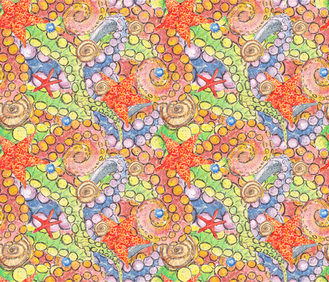 Sea slippy guys fabric by artishark on Spoonflower - custom fabric
