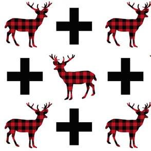 buffalo plaid deer plus large version