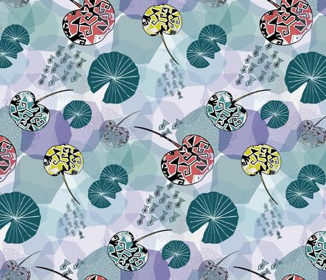 Stingray Pond fabric by festoonery on Spoonflower - custom fabric