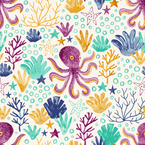 Under The Sea fabric by bethschneider on Spoonflower - custom fabric