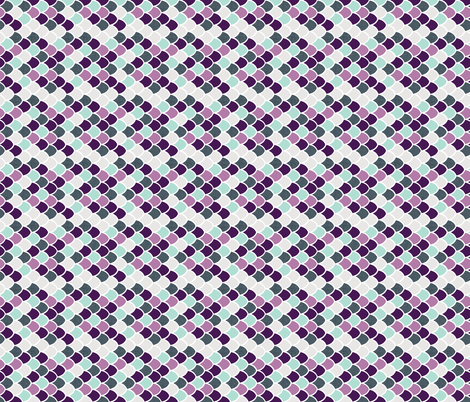 purple + aqua mermaid scales // small rotated fabric by ivieclothco on Spoonflower - custom fabric