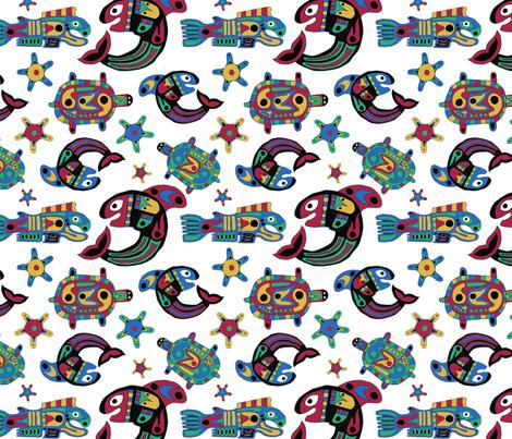 Ocean Friends fabric by thepurplepeach on Spoonflower - custom fabric