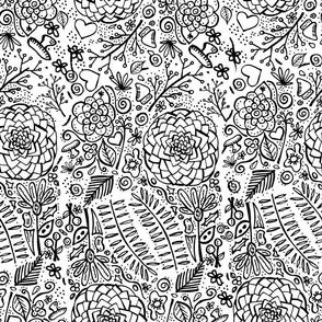 doodle floral