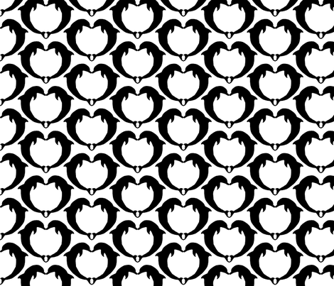 dolphin hearts fabric by lgray22 on Spoonflower - custom fabric