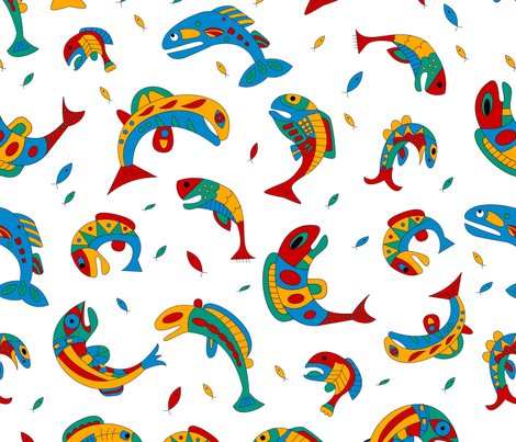 AQUATIC FISH fabric by janemonteith on Spoonflower - custom fabric