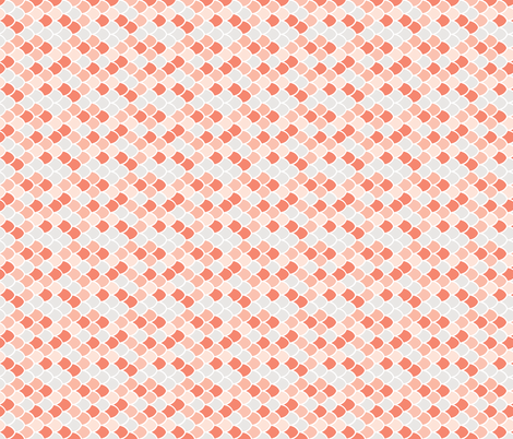 coral + pink mermaid scales // small rotated fabric by ivieclothco on Spoonflower - custom fabric