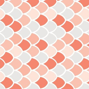 coral + pink mermaid scales // small rotated