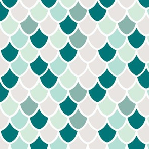 teal mermaid scales // small