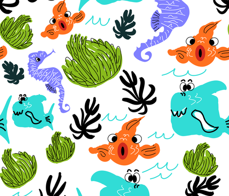 Aquanation fabric by julie_thibault on Spoonflower - custom fabric