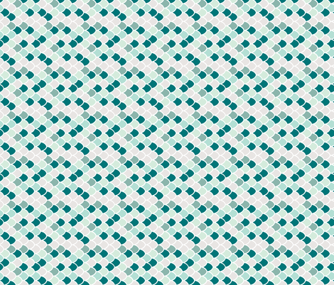 teal mermaid scales // small rotated fabric by ivieclothco on Spoonflower - custom fabric