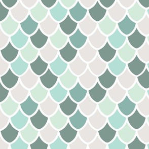 aqua mermaid scales // small