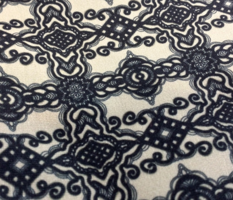 Project 289 | Black Lace on Cream