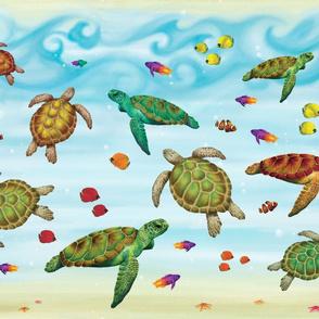 Sea Turtle Scene