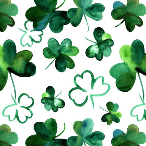 Shamrock Luck fabric by hipkiddesigns on Spoonflower - custom fabric