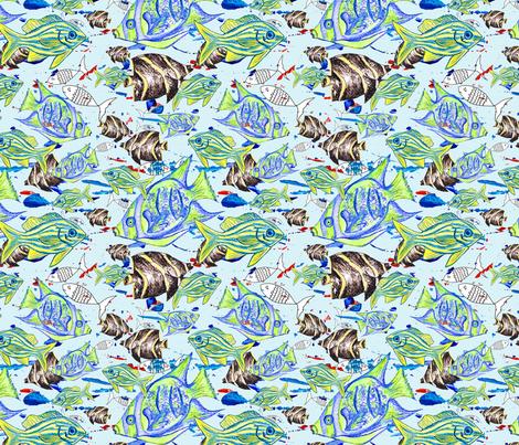Aquatic fabric by daintydora on Spoonflower - custom fabric