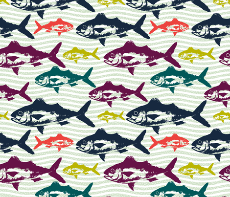 Holy Mackerel! fabric by brittany_vogt on Spoonflower - custom fabric