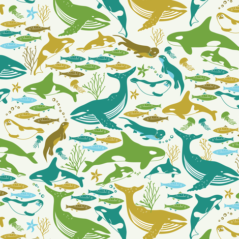 Pacific Northwest Locals fabric by ebygomm on Spoonflower - custom fabric
