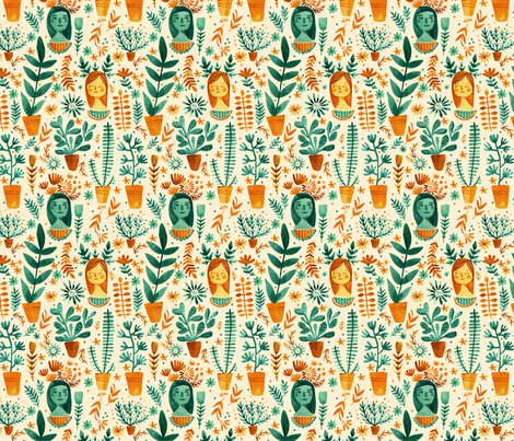 The Cactus Garden fabric by abigailhalpin on Spoonflower - custom fabric