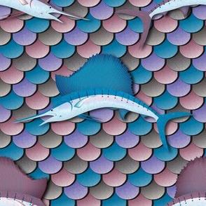 Espadon Voilier (Pink/Blue)