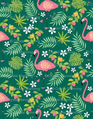 Fruity Flamingo - Green