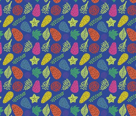 frutas tropicales fabric by marielatresoldi on Spoonflower - custom fabric