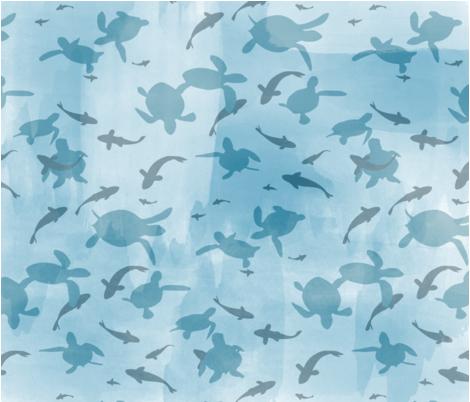 Water_Silhouette fabric by sarahselkirkdodge on Spoonflower - custom fabric