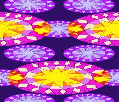 Geodesic Sunflowers fabric by b2b on Spoonflower - custom fabric