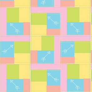 Cupid's Arrow quilt-look