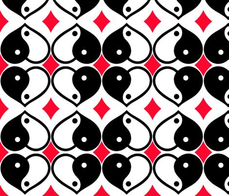 Yin-Yang Heart of Hearts fabric by robin_rice on Spoonflower - custom fabric