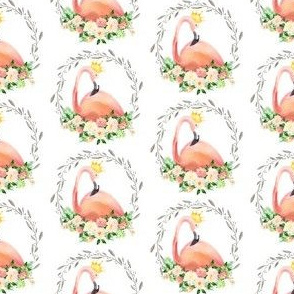 "2"" Floral Flamingo with Crown"