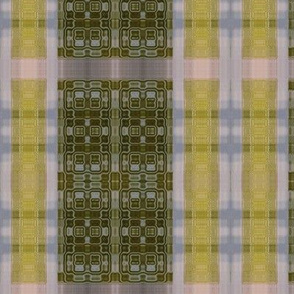 Plaid in celadon and citron