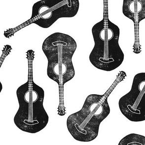 Block print Guitar