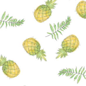 Pineapples and Leaves