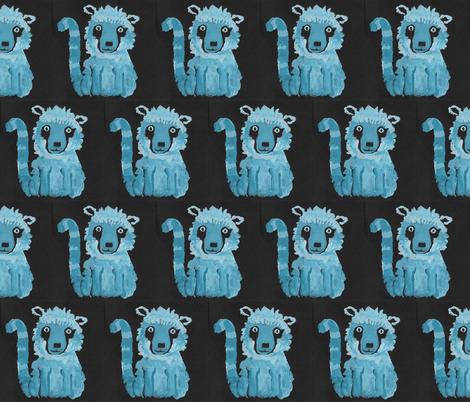funny lemurs fabric by kheckart on Spoonflower - custom fabric