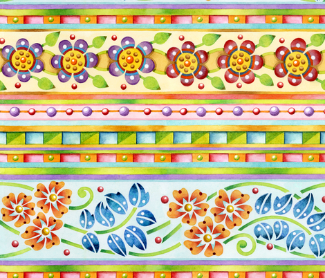 Parterre Botanique fabric by patriciasheadesigns on Spoonflower - custom fabric