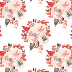 blush gray soft watercolor floral