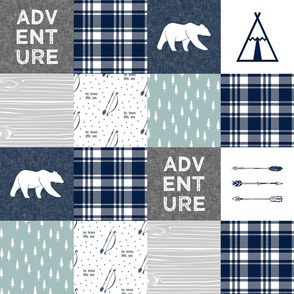 "5"" quilt blocks - Adventure Quilt top 