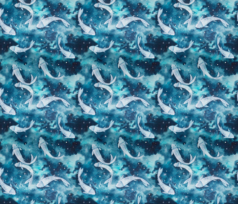 Pisces fabric by louandmoss on Spoonflower - custom fabric