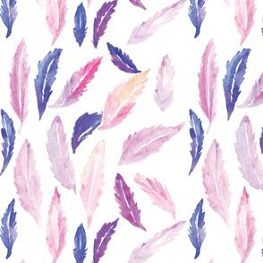 Purplish Feathers