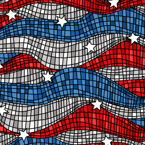 American Mosaic fabric by robyriker on Spoonflower - custom fabric