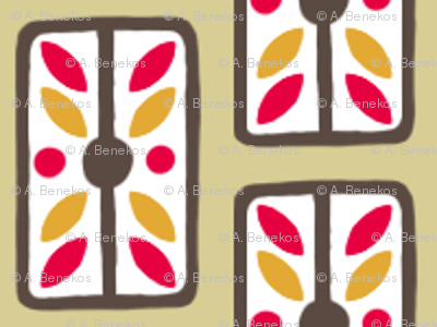 Ornamental Cough Drops - Retro Kitchen Palette A
