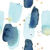 Blue Watercolour Splashes